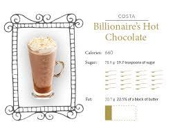 Billionaires hot chocolate costa